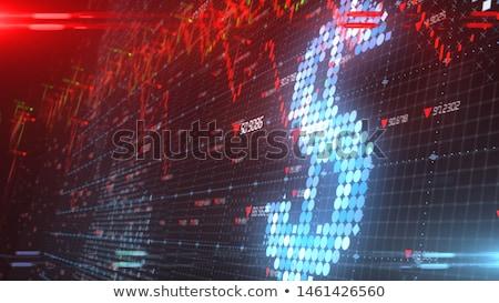 Crisi finanziaria bar grafico a torta segno mercato grafico Foto d'archivio © oblachko