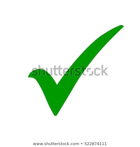 Stock fotó: Zöld · csekk · osztályzat · illusztráció · kör · ikon