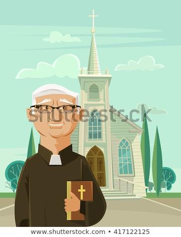 счастливым министр Библии проповедь сообщение Сток-фото © lisafx
