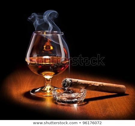 シガー ワイングラス ハバナ ウイスキー ファッション 背景 ストックフォト © Givaga