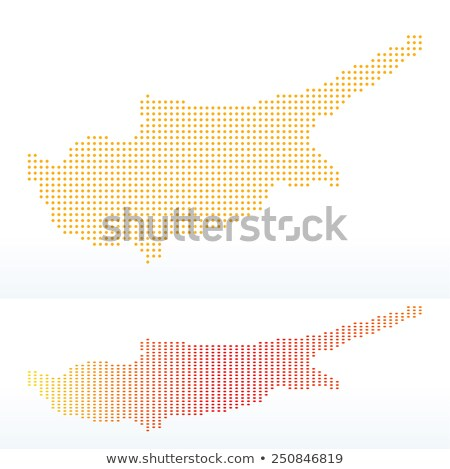 Map of Republic of Cyprus with with Dot Pattern Stock photo © Istanbul2009