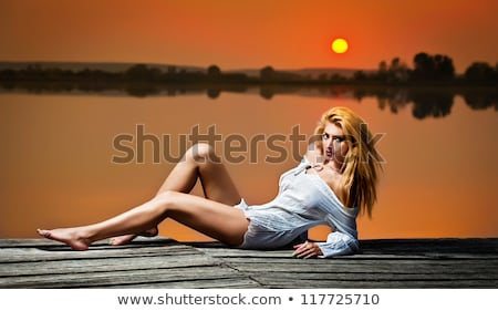 Stock photo: Sexy on natural background