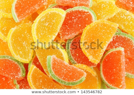 Fruit jelly sweets- oranges & lemons. Stock photo © lucielang