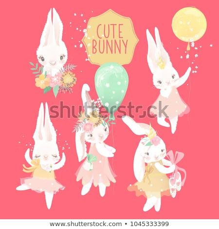 Pasqua principessa illustrazione bella cute coniglio Foto d'archivio © Dazdraperma