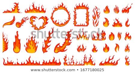 Vettore fiamme immagine a colori isolato bianco fuoco Foto d'archivio © Mr_Vector