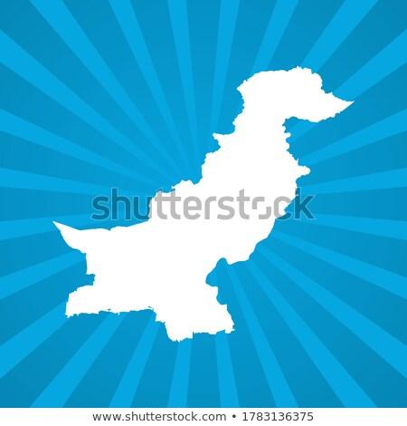 Térkép iszlám köztársaság Pakisztán pont minta Stock fotó © Istanbul2009