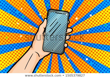 comic cartoon mobile phone stock photo © lineartestpilot