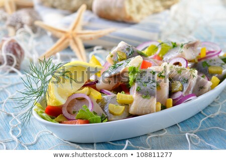 Stock fotó: Fiatal · saláta · cékla · hagymák · savanyúság · étel