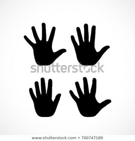 фотография · женщину · жест · стороны - Сток-фото © tashatuvango