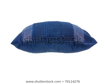 Kanapé párnák izolált fehér ágy szövet Stock fotó © ozaiachin
