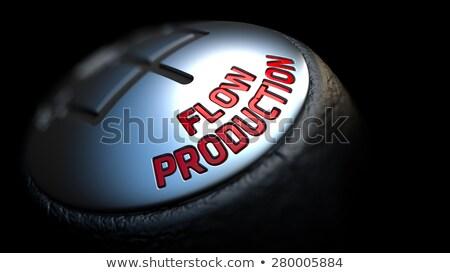 üretim araba vardiya kırmızı Stok fotoğraf © tashatuvango