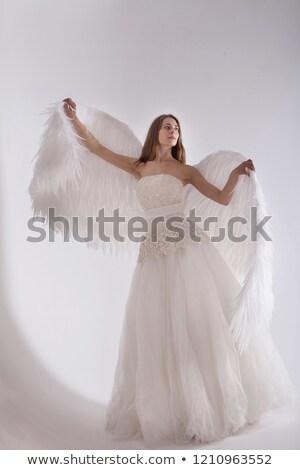 Kobieta odizolowany biały miłości szczęśliwy Zdjęcia stock © Elnur