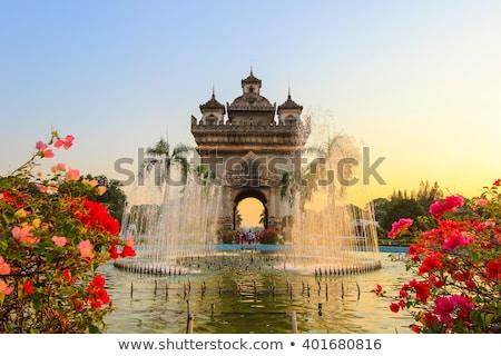 Laosz győzelem kapu híres tájékozódási pont város Stock fotó © jeayesy