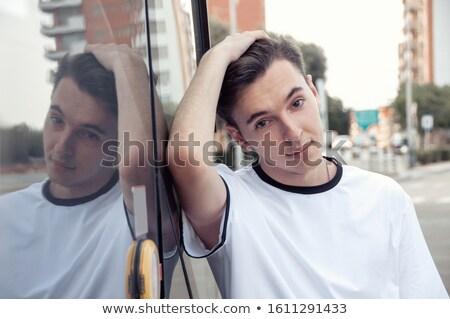 ファッション · 肖像 · クール · 若い男 · 髪 - ストックフォト © feedough