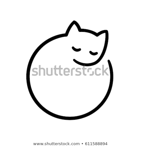 Simple and minimal vector graphic cat symbol stock photo © feabornset