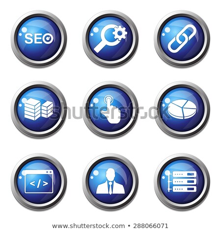 seo internet sign blue vector button icon design set 11 stock photo © rizwanali3d