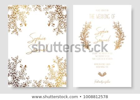 Esküvői meghívó elegáns virágmintás függőleges kép illusztráció Stock fotó © Irisangel