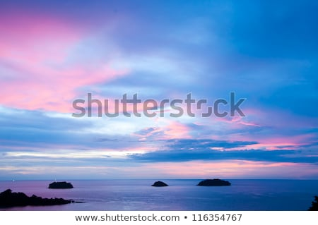 Thai boat silhouette at sunset Stock photo © romitasromala