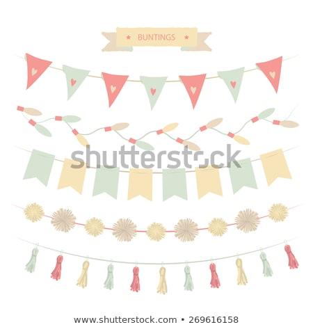estate · design · party · elementi · isolato · bianco - foto d'archivio © lordalea