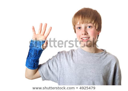 Bone healed, ready for the cast to be taken off Stock photo © soupstock