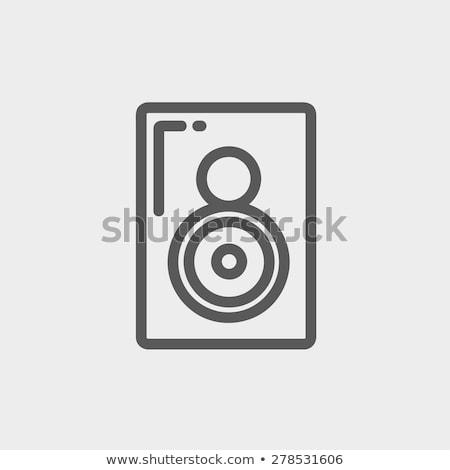 Dos manera de audio orador delgado línea Foto stock © RAStudio