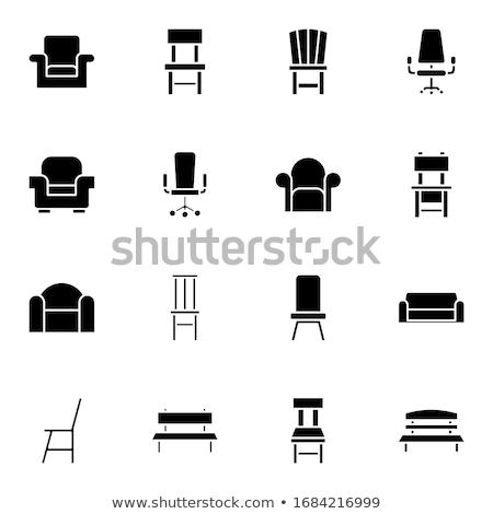 Divano sedia isolato bianco sfondo verde Foto d'archivio © scenery1