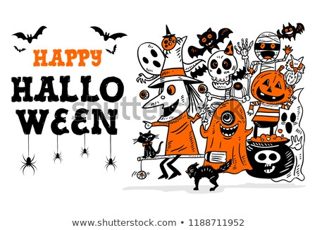 vector halloween hand drawn lettering stock photo © lissantee
