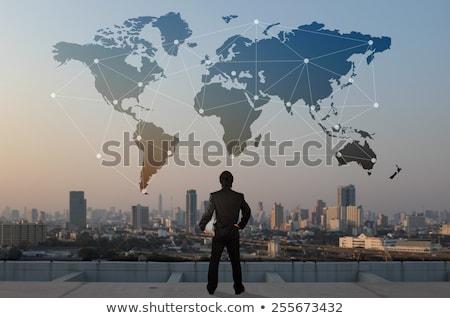 global · desenvolvimento · negócio · mapa · mundo · organizado - foto stock © lightsource