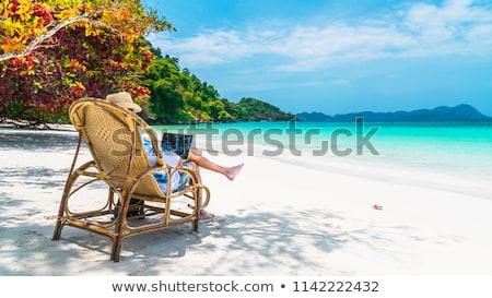 Businessman on vacation Stock photo © alphaspirit