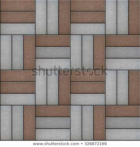Gray and Brown Pavement of Rectangles Laid Out on Three Pieces. Stock photo © tashatuvango