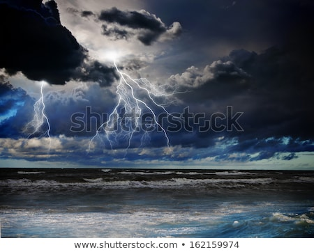 曇った 嵐の 日 海 海 青 ストックフォト © lunamarina