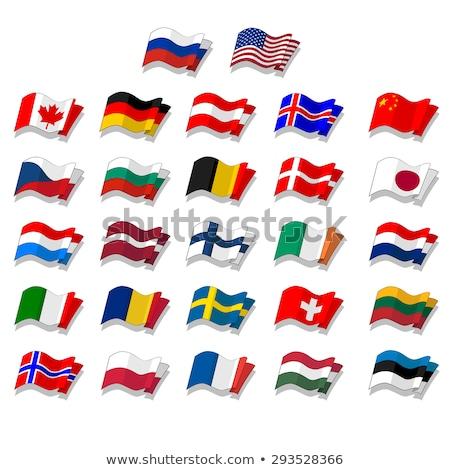 Suiza Irlanda banderas rompecabezas aislado blanco Foto stock © Istanbul2009