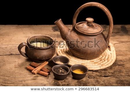 Кубок горячей молоко мускатный орех корицей кофе Сток-фото © Digifoodstock