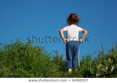 kislány · gimnasztikai · fehér · sport · testmozgás · gyerek - stock fotó © paha_l