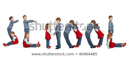 children making word FRIEND collage Stock photo © Paha_L