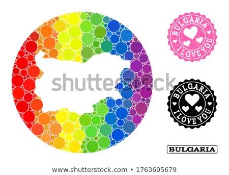 Bulgária homoszexuális térkép vidék büszkeség zászló Stock fotó © tony4urban