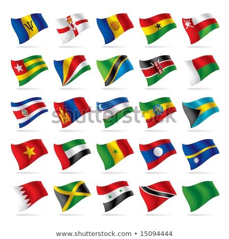Egyesült Arab Emírségek Tanzánia zászlók puzzle izolált fehér Stock fotó © Istanbul2009