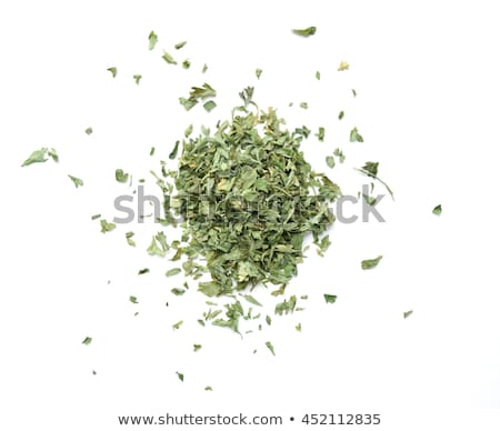 spoon with chopped dried parsley Stock photo © nito