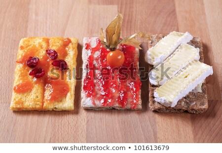 Crispbread with marmalade, cheese and jam Stock photo © Digifoodstock