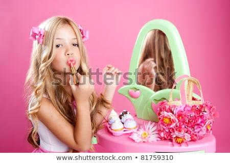 little girl with toy makeup stock photo © Paha_L