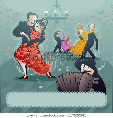 танго танцоры иллюстрация женщину любви моде Сток-фото © bokica