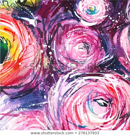 Vetor padrão magenta flor desenho cor Foto stock © Romasan