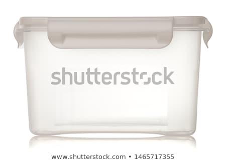 Plastica alimentare stoccaggio isolato bianco cucina Foto d'archivio © shutswis