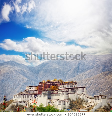 Landmarks of the Potala Palace in Lhasa Tibet Stock photo © bbbar