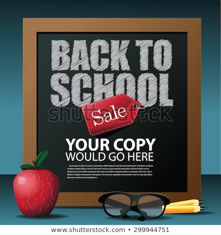 Back to school season sale. EPS 10 stock photo © beholdereye
