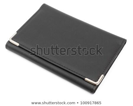 élégante cuir organisateur isolé blanche affaires Photo stock © stokkete