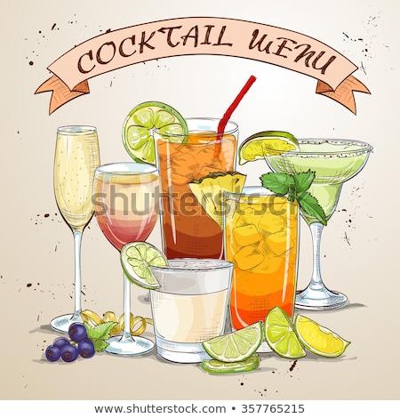 Yeni çağ içecekler menü mükemmel eps Stok fotoğraf © netkov1