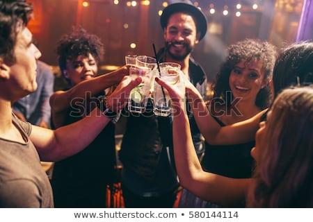 Trinken Glas Whiskey Felsen entspannen Alkohol Stock foto © alex_l