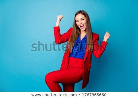 девушки блузка деньги молодые красивой кавказский Сток-фото © Massonforstock