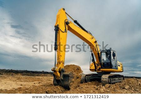 Giallo bulldozer vettore design illustrazione Foto d'archivio © RAStudio
